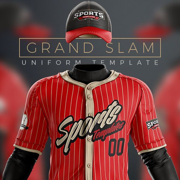 Download Baseball Uniform Template mockup PSD for photoshop ...