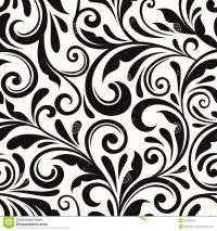 vintage-seamless-floral-pattern-vector-illustration-black ...