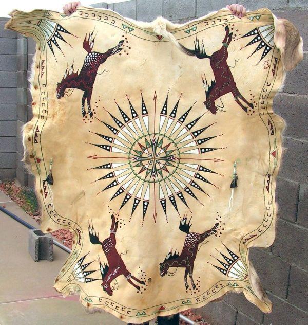 Native American Hide Art