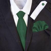 Dark Green Wedding Necktie Set | Solid Formal Tie Sets ...