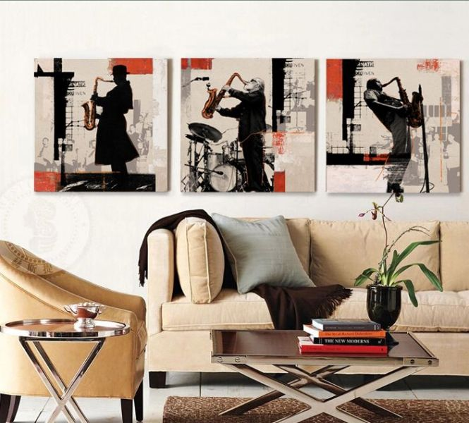 Kitchen Weight On At Reasonable Prices Rock Jazz Saxophone Performances Poster Home Decor Wall Art 3 Piece Canvas Bar Cafe Bedroom Living Room