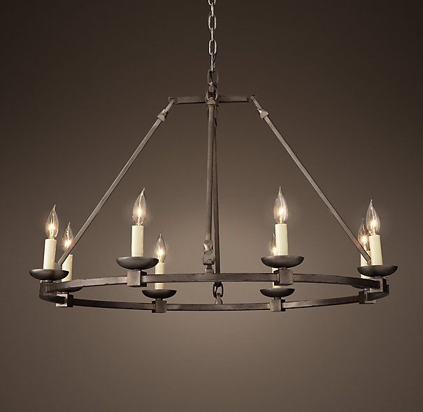 Rh S Cabot Round Chandelier 36 Before The Advent Of Gaslights Suspended Cers