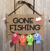 Gone Fishing door sign, fish door sign, Gone Fishing baby ...