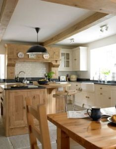 Natural wood decorated kitchen also kitchens pinterest decorating rh