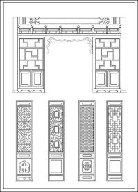 Chinese window lattice drawing  CAD Design | Free CAD ...
