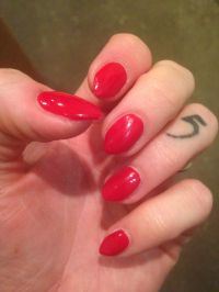 Short red stiletto nails | Nail designs | Pinterest | Red ...