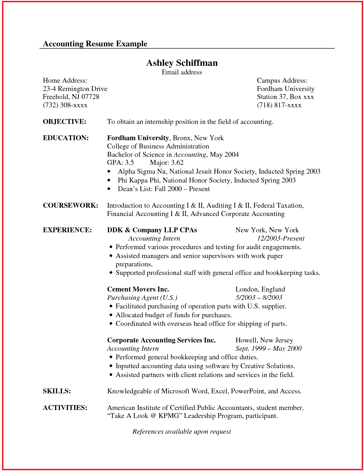 Accountant Resume Sample Canada Jobresume Website
