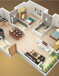 small house plans sq ft bedroom and terrace smallhouseplans dhouseplans also rh in pinterest
