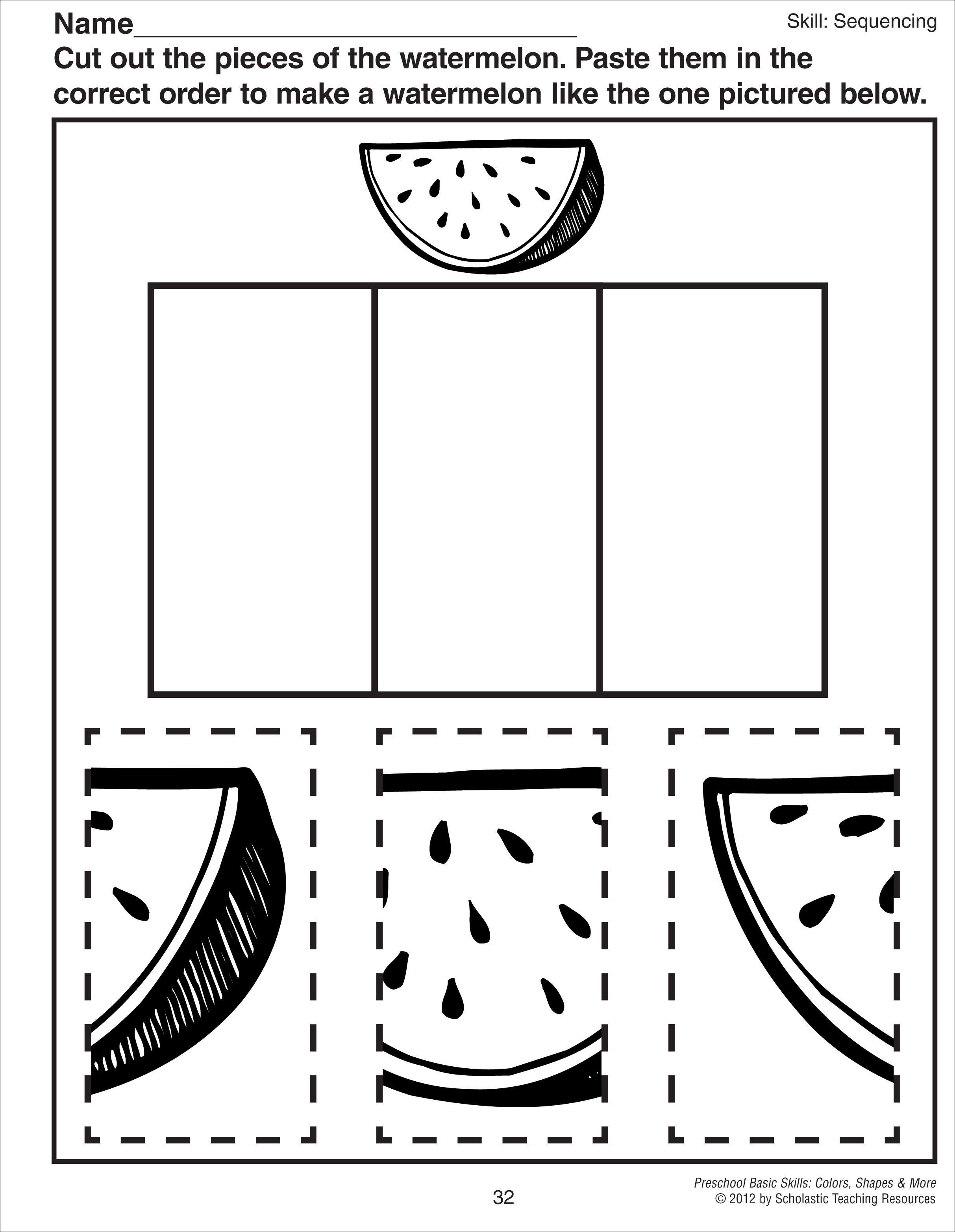Knippen En Puzzelen Meloen