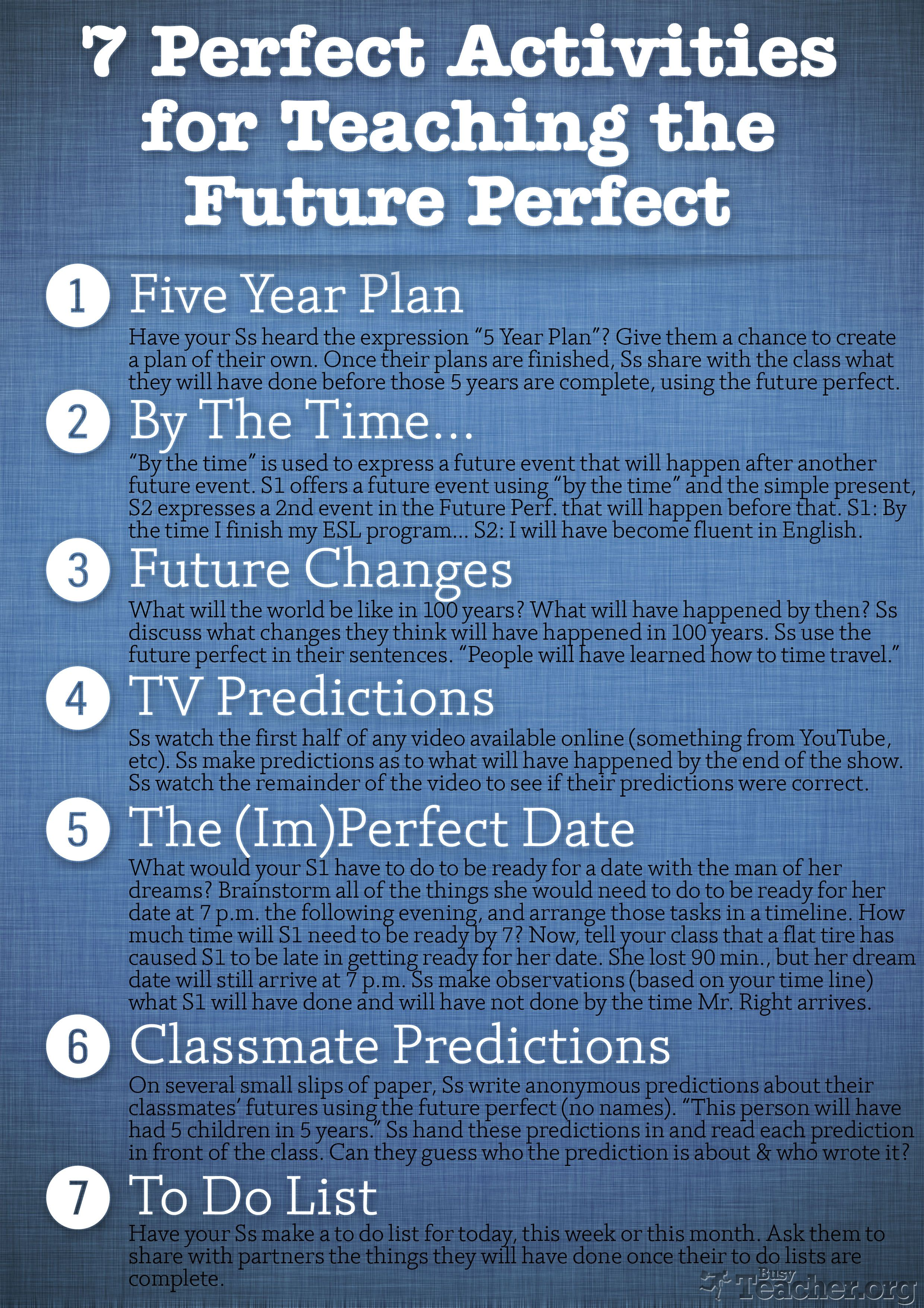Future Perfect Tense Exercises For Grade 6
