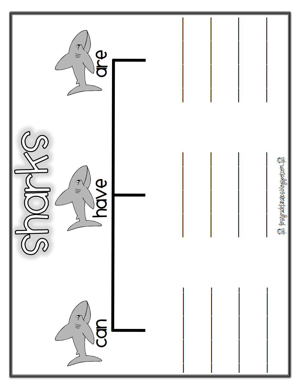 Shark 4th Grade Math Worksheet. Shark. Best Free Printable