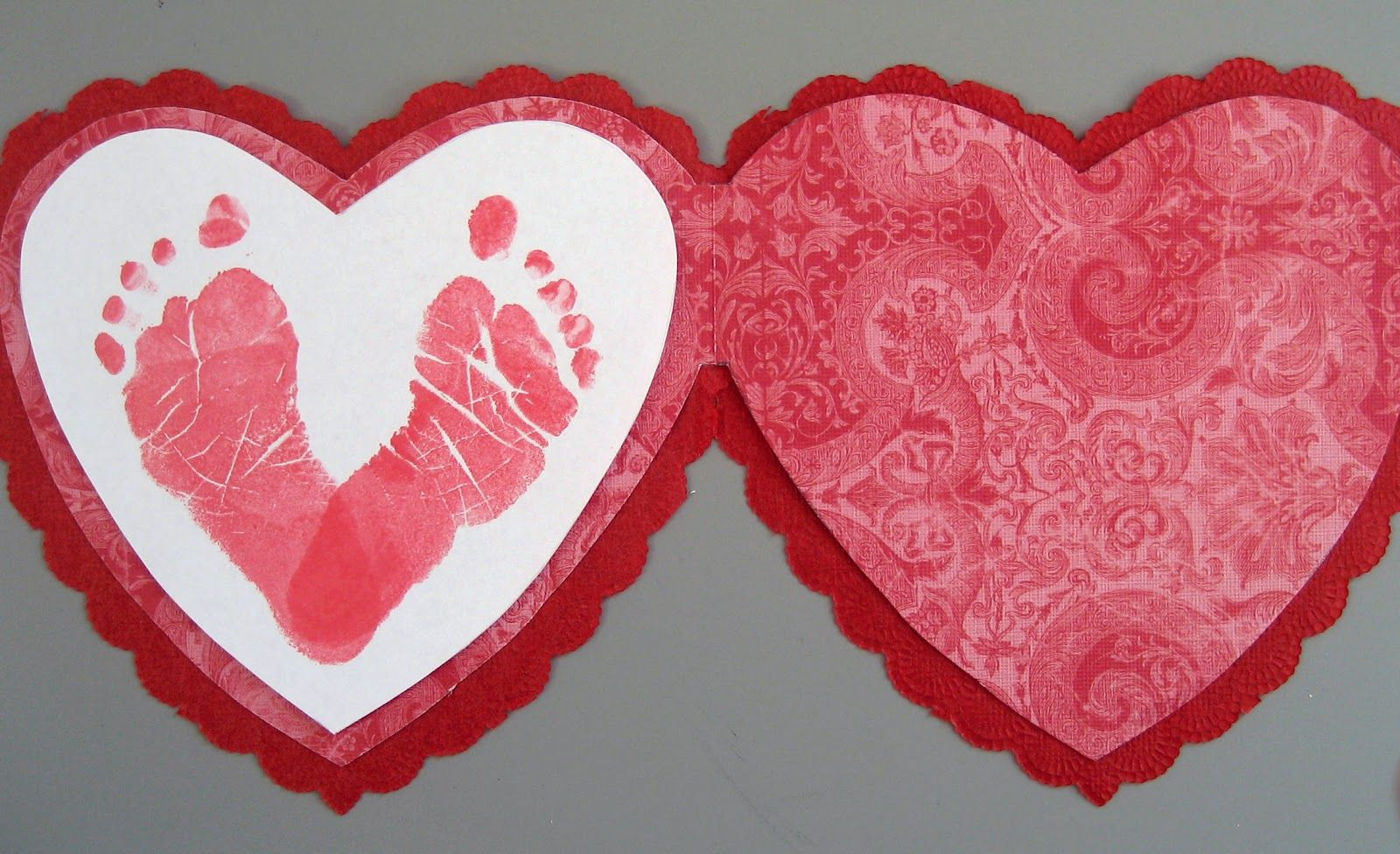 Pinterest Holiday Baby Footprints