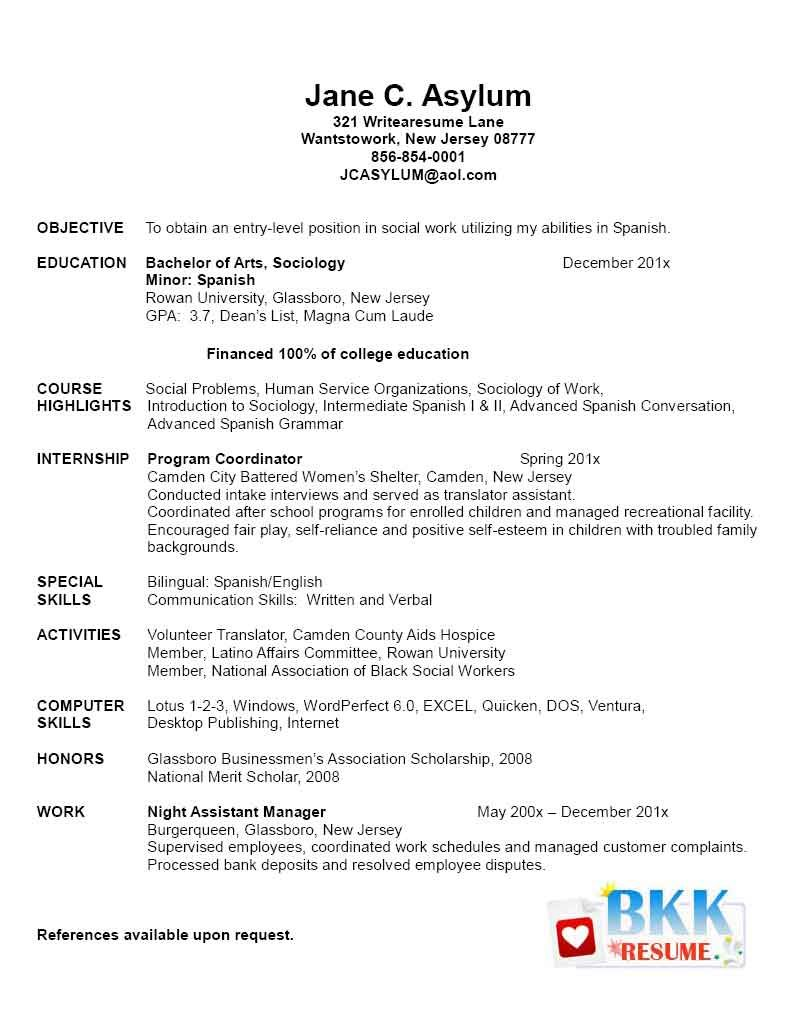New Grad Resume New Graduate Resume Resumes For Future  Resume Recent Graduate