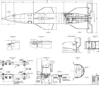 Space Drawing set 22: V-2 rocket engine diagrams » The