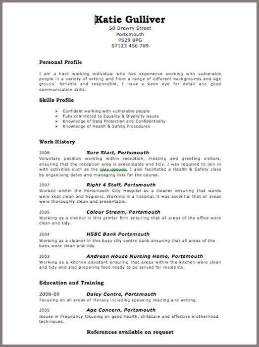 Uk Resume Example Resume Format Uk Curriculum Vitae Format For Uk