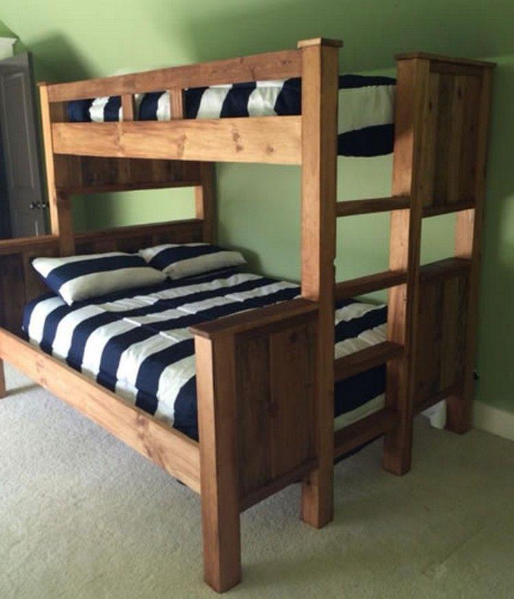 Pallet Bunk Bed Plans Pallet Bunk Beds Wood Pallets And