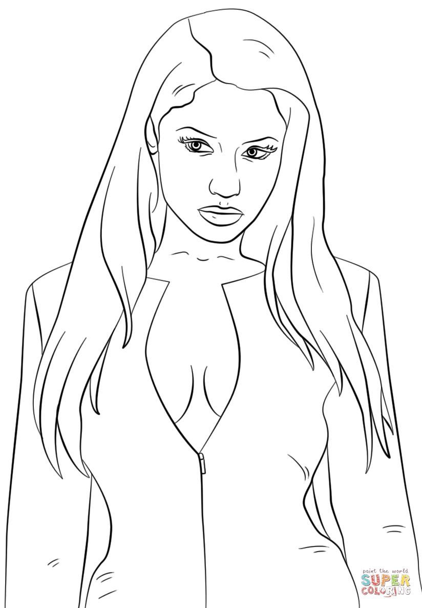 Online b cardi coloring pages