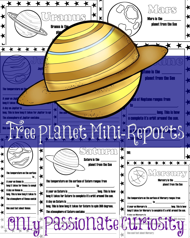 Printable Planet Mini Reports