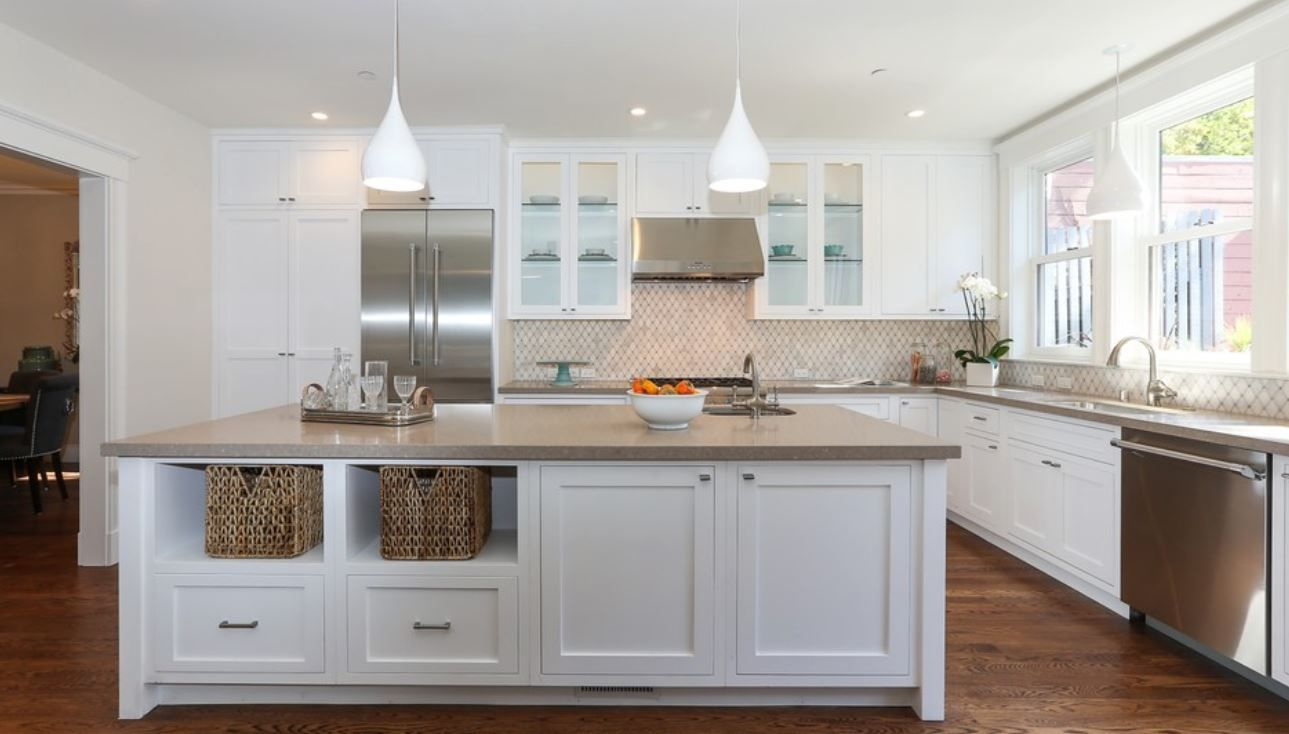 ikea kitchen remodel cost wall backsplash caesarstone shitake benchtop | old colours ...