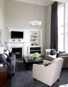 Explore contemporary family rooms and more offset fireplace design ideas also pictures remodel decor page rh pinterest