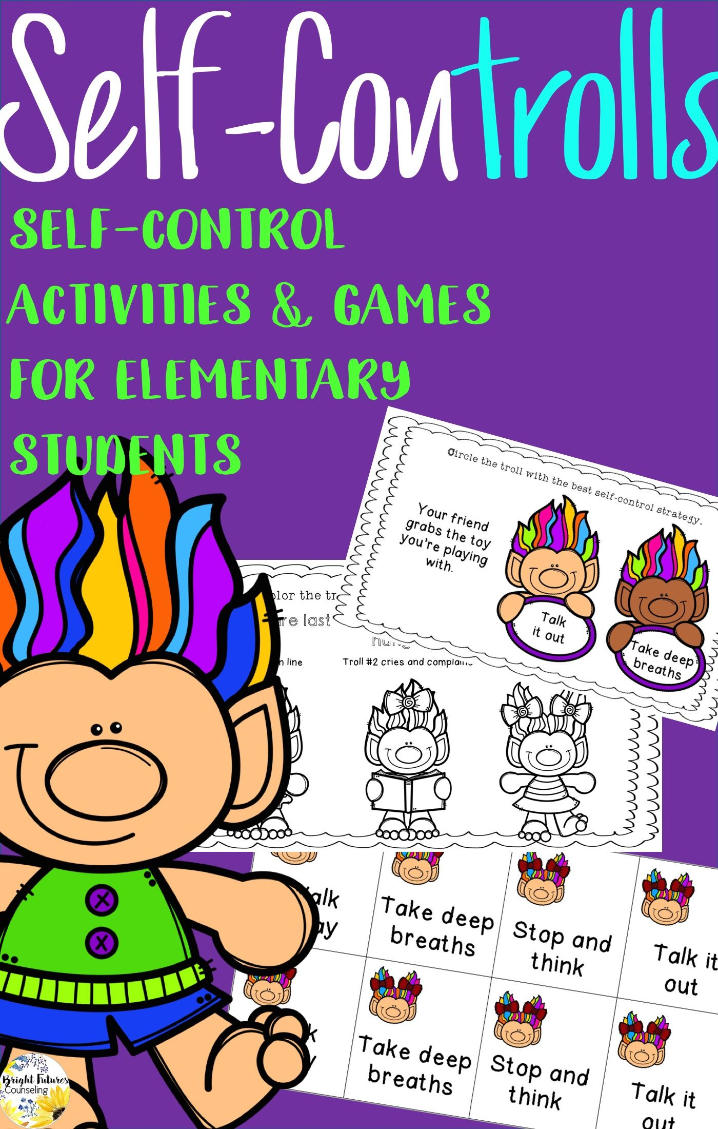 Self Control Activity Pack