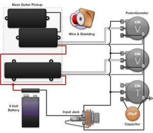 bass wiring diagram | Guitar rigging | Pinterest | Bass