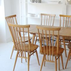 Ercol Chair Design Numbers Covers In Dubai Vintage Drop Leaf Table And Six Tall Stick Back