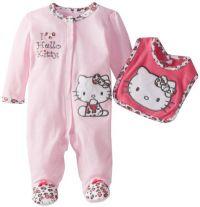 Amazon.com: Hello Kitty Baby-Girls Newborn Footed Coverall ...