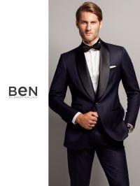 Ben by Jeremy Wallace navy shawl collar tuxedo | Lookbook ...