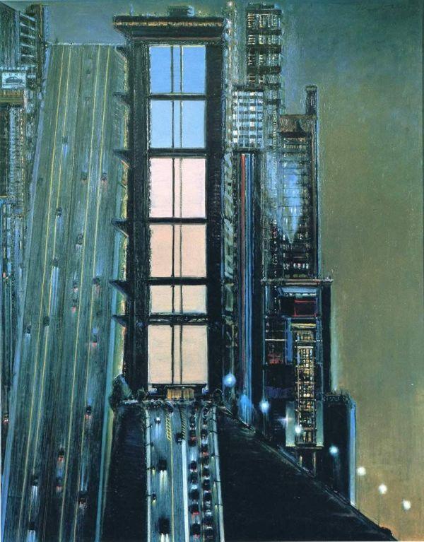 Wayne Thiebaud Folded Cityscape Artwork - Paintings And