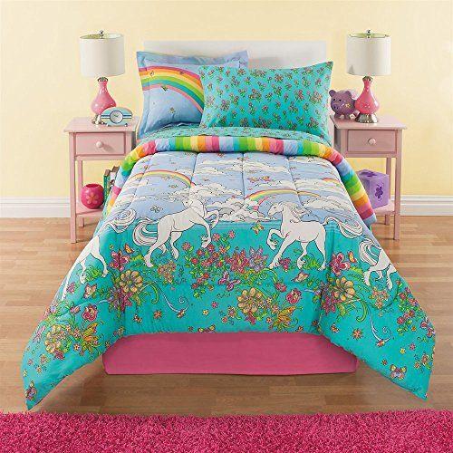 Kids Comforter Sets 6 Piece Girls Unicorn Rainbow