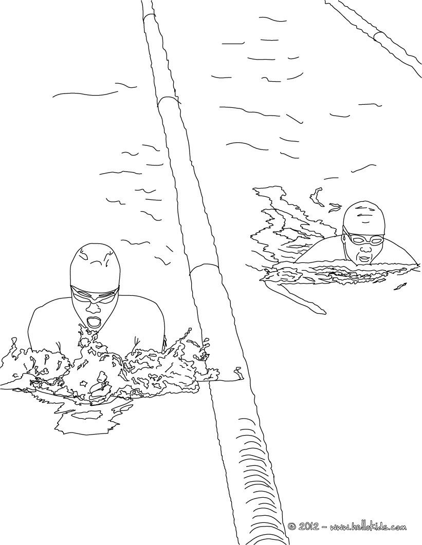 Have fun coloring this Freestyle swimming sport coloring