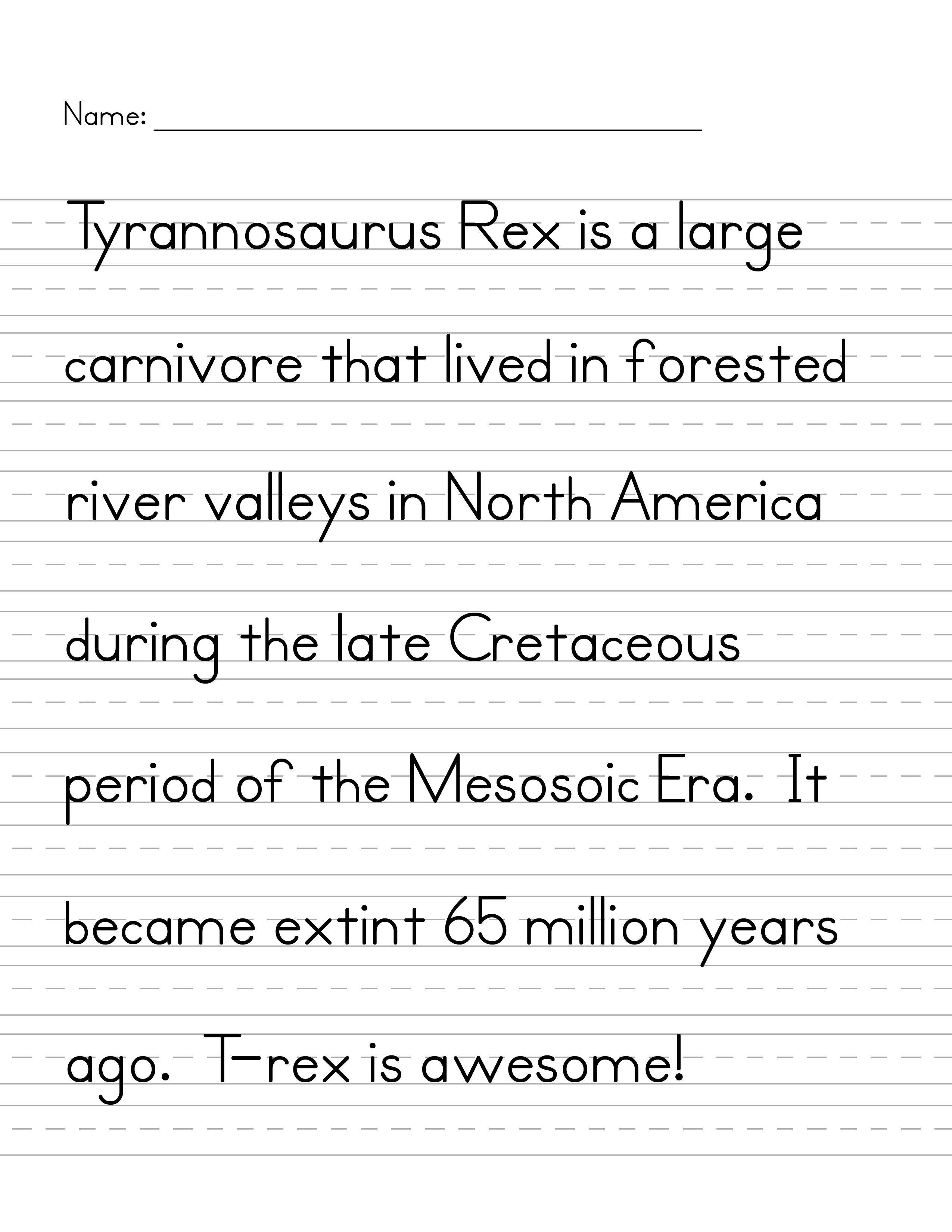Handwriting T Rex