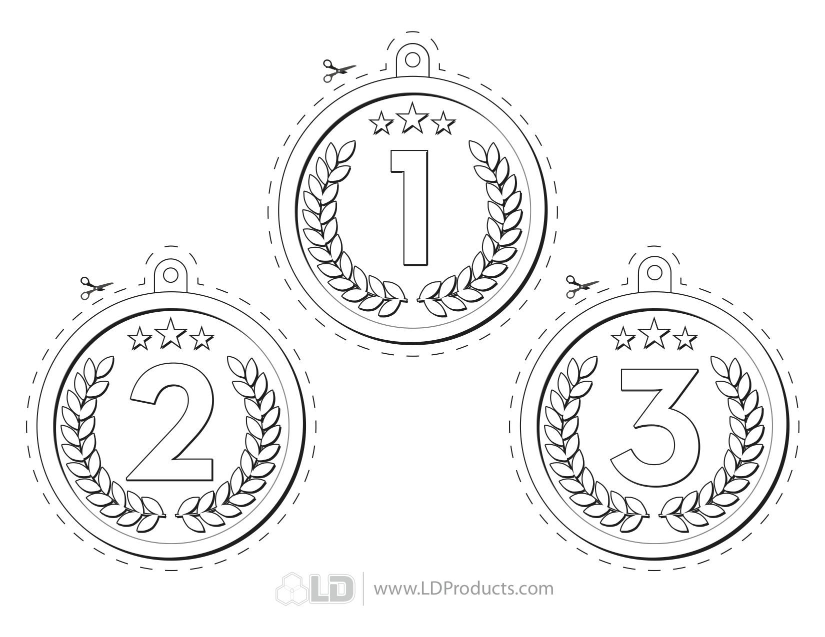 35 Olympic Medal Coloring Pages