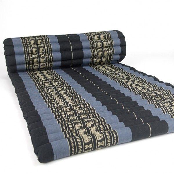 Jumbo Size Thai Roll Up Mat Fold Out Mattress Cushion Day Bed 100 Kapok Insert
