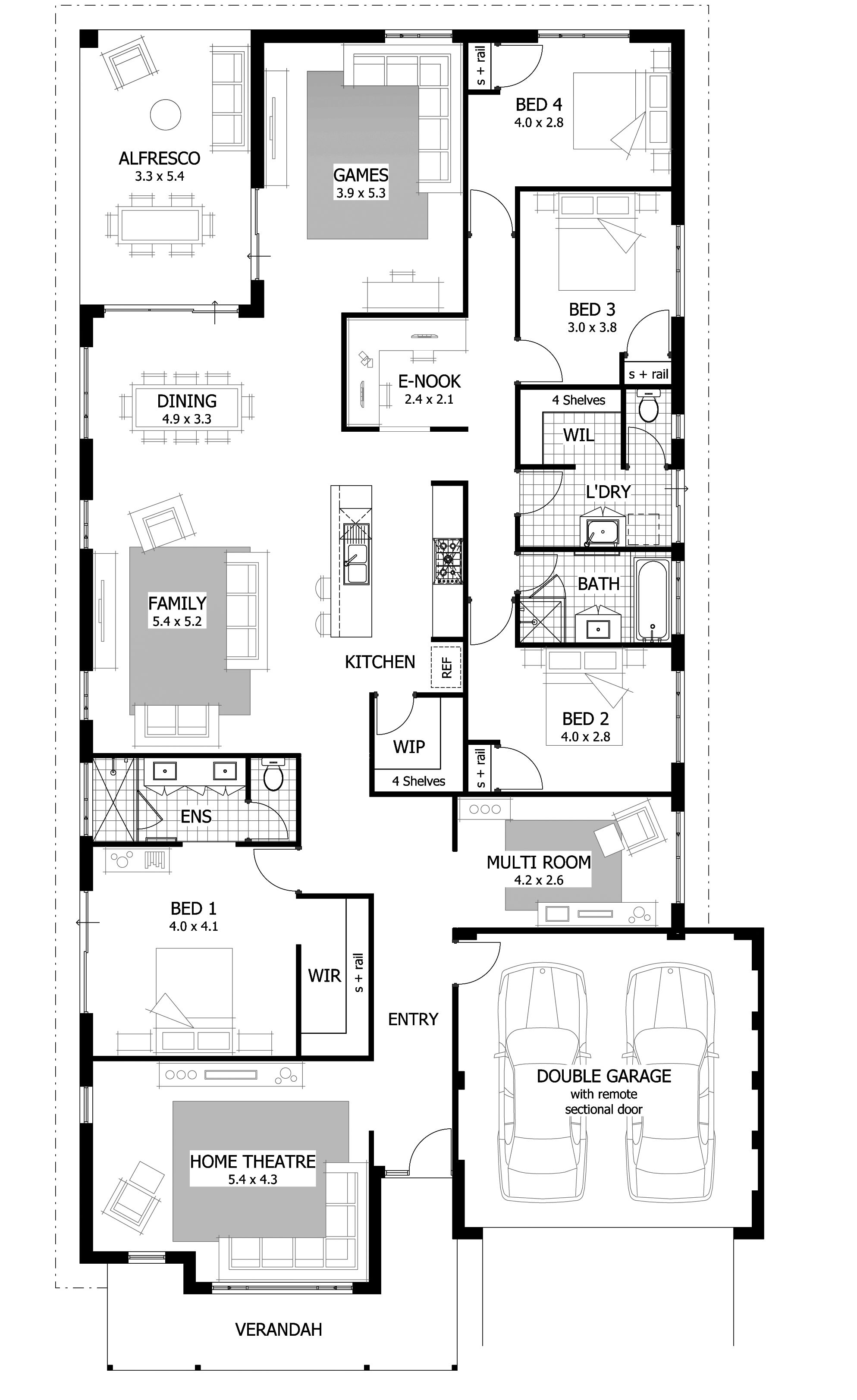 3d Double Storey House Plans