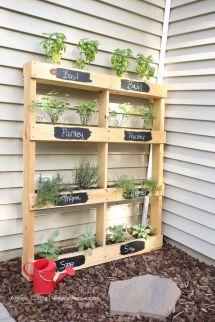 Pallet Herb Garden Diy - Pink Lemonade Home And