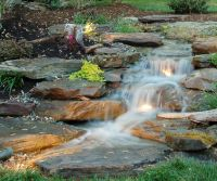 Lighted Natural Pondless Waterfall www ...