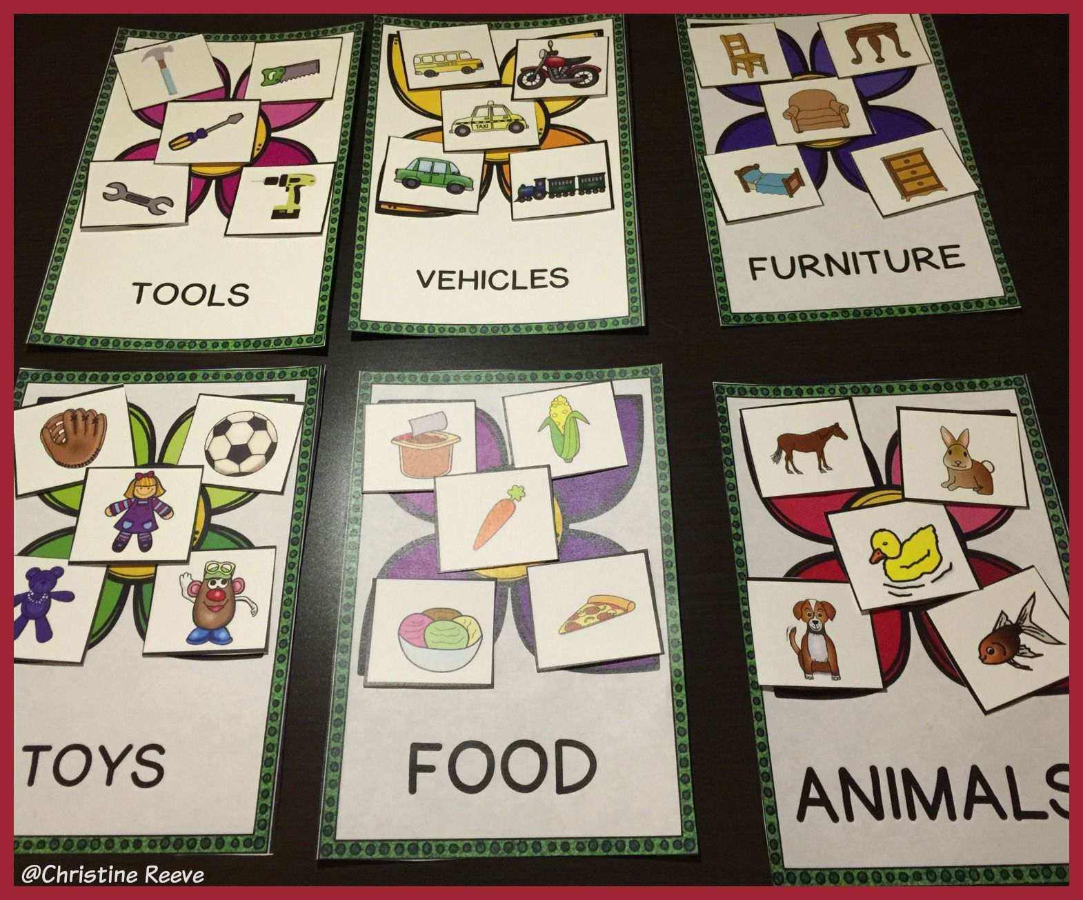 Receptive Vocabulary Activities For Spring Feature Function Class Special Ed