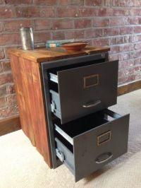 Vintage Industrial Chic Metal Filing Cabinet Encased in ...