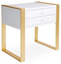 Sumner Nightstand, Gold/White | Bedrooms | Pinterest ...