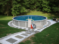 Backyard Landscaping Ideas With Above Ground Pool