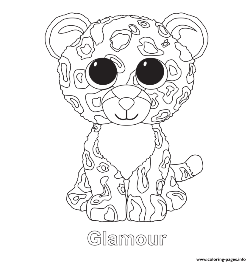 print glamour beanie boo coloring pages  kids crafts
