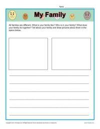 Kindergarten Writing Prompt - My Family | Kindergarten ...