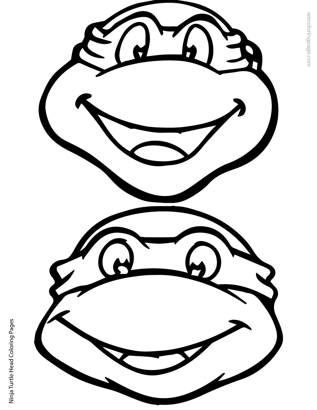 Ninja Turtle Head Coloring Page 02 01