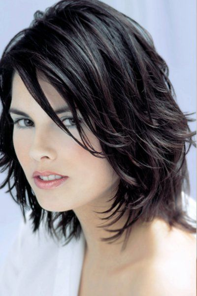 Schulterlanges Haar In Dunkelbraun Haare 2015 Frisuren Für