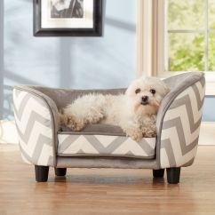 Pet Dog Sofa Clic Sofas Enchanted Home Ultra Plush Chevron Snuggle