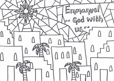 Emmanuel- God with us: Printable Christmas Reflective