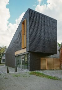 Black Bricks Facade For Small House Design House facade ...