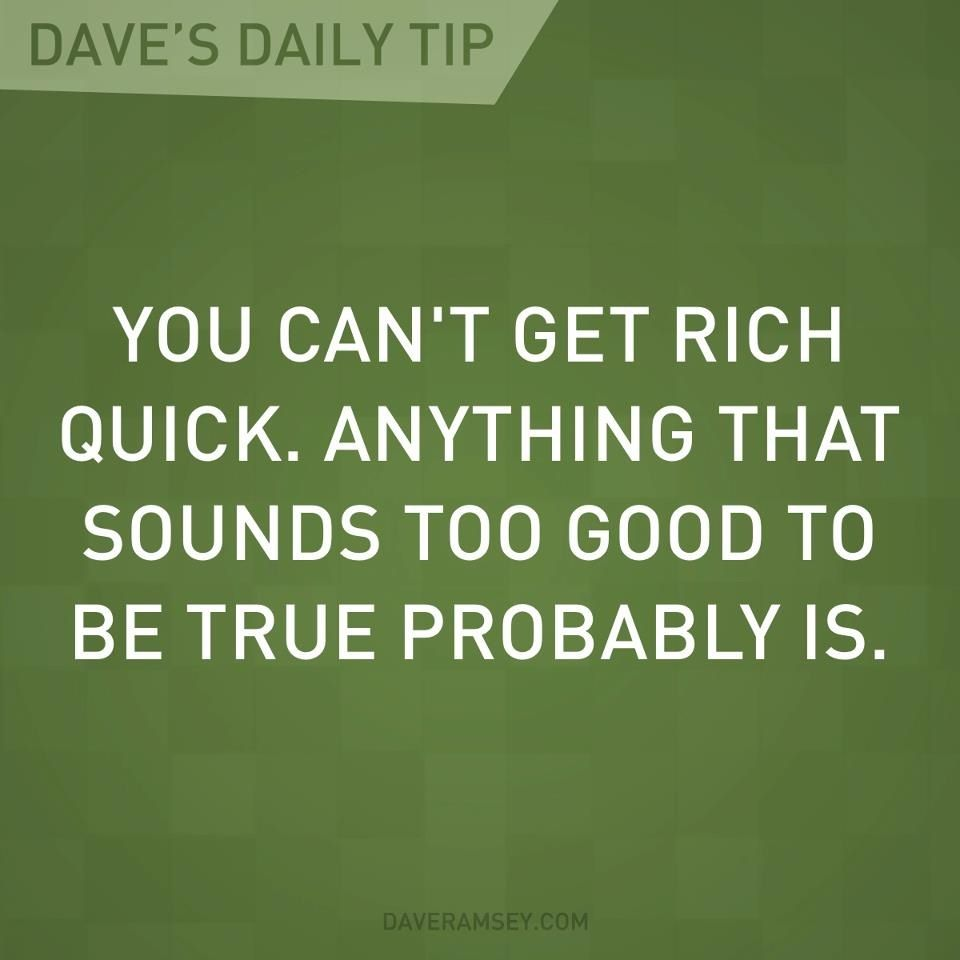 how to get rich quick from nothing